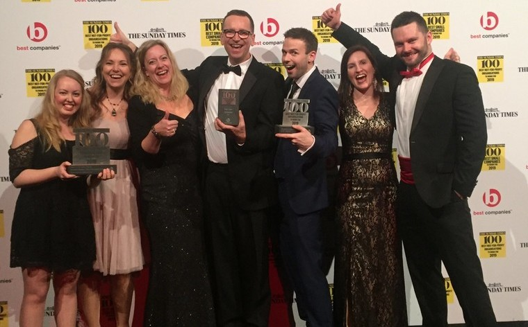 Winner - Best Not-for-Profit Organisation to Work For